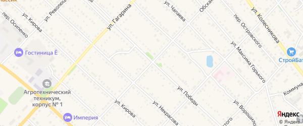 Обская улица на карте Камня-на-Оби с номерами домов