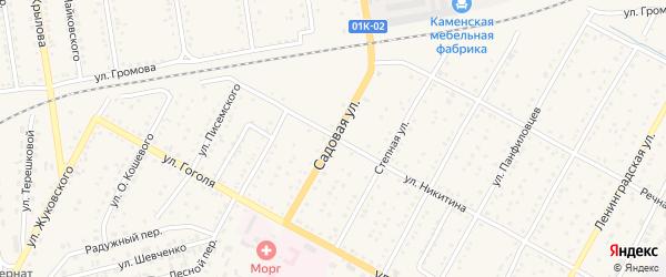 Садовая улица на карте Камня-на-Оби с номерами домов
