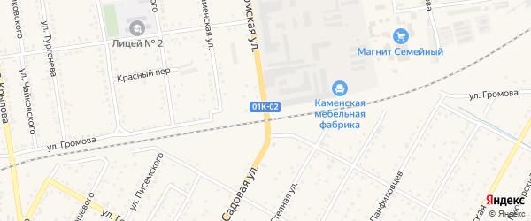 Улица Громова на карте Камня-на-Оби с номерами домов