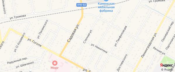 Степная улица на карте Камня-на-Оби с номерами домов