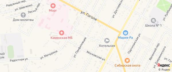 Ключевская улица на карте Камня-на-Оби с номерами домов