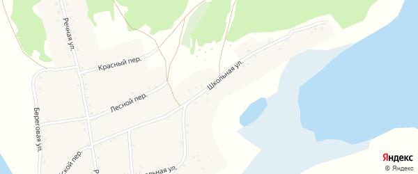 Школьная улица на карте села Дресвянки с номерами домов