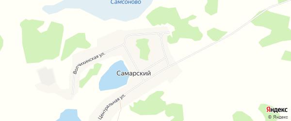 Карта Самарского поселка в Алтайском крае с улицами и номерами домов