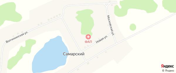 Московская улица на карте Самарского поселка с номерами домов