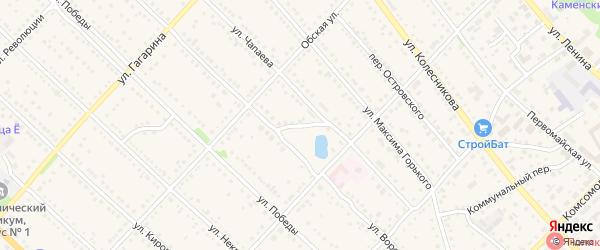 Переулок Фурманова на карте Камня-на-Оби с номерами домов
