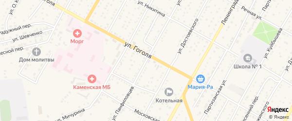 Улица Панфиловцев на карте Камня-на-Оби с номерами домов