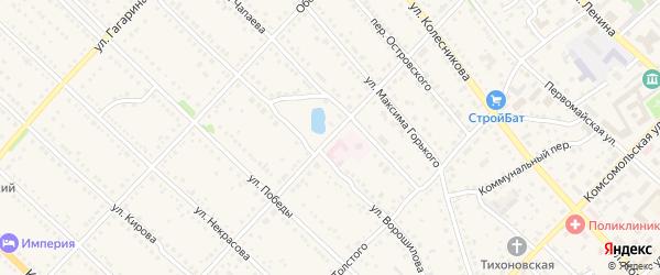 Улица Лермонтова на карте Камня-на-Оби с номерами домов