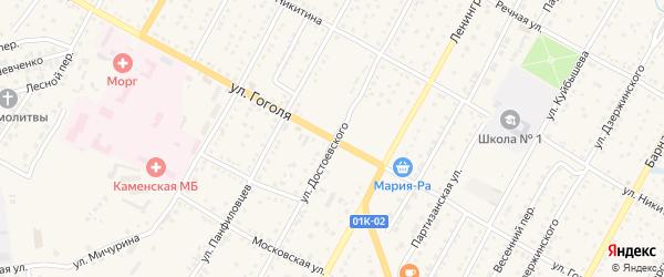 Улица Гоголя на карте Камня-на-Оби с номерами домов