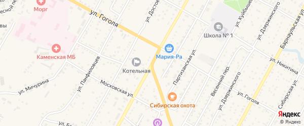 Ленинградская улица на карте Камня-на-Оби с номерами домов
