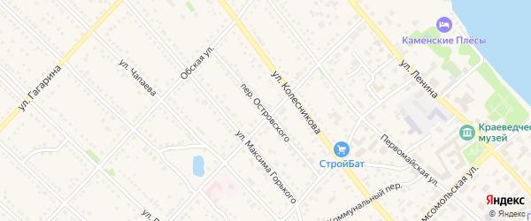 Переулок Островского на карте Камня-на-Оби с номерами домов