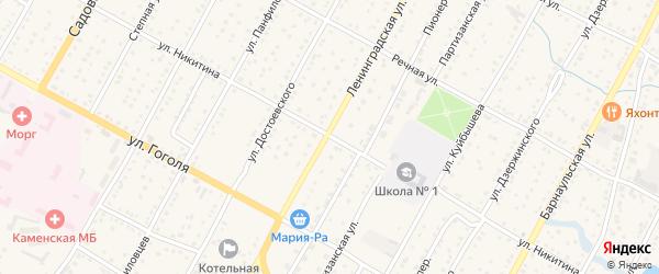 Улица Никитина на карте Камня-на-Оби с номерами домов