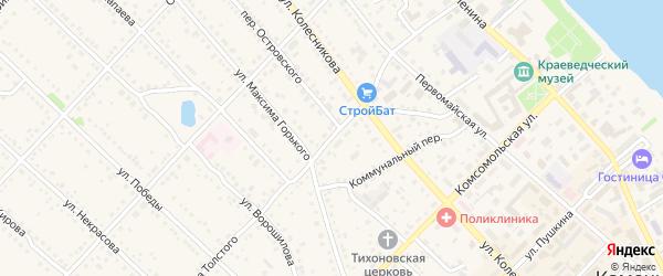 Улица Толстого на карте Камня-на-Оби с номерами домов