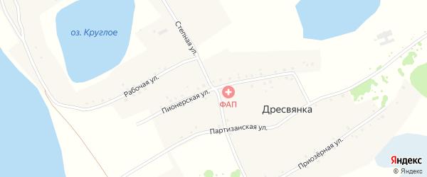 Пионерская улица на карте села Дресвянки с номерами домов