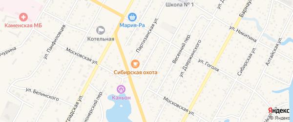 Телевизионный переулок на карте Камня-на-Оби с номерами домов