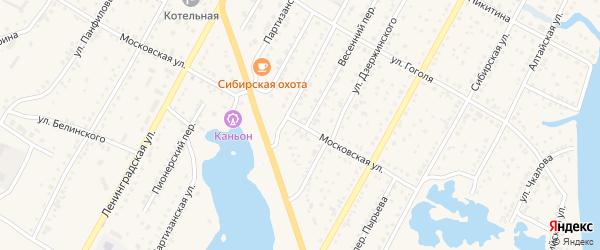 Московская улица на карте Камня-на-Оби с номерами домов