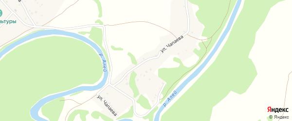 Улица Чапаева на карте села Захарово с номерами домов