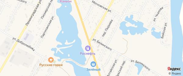 Улица Белинского на карте Камня-на-Оби с номерами домов