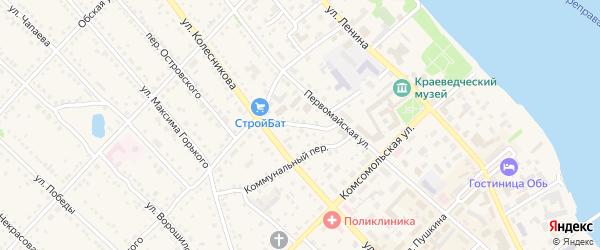 Переулок П.Сухова на карте Камня-на-Оби с номерами домов