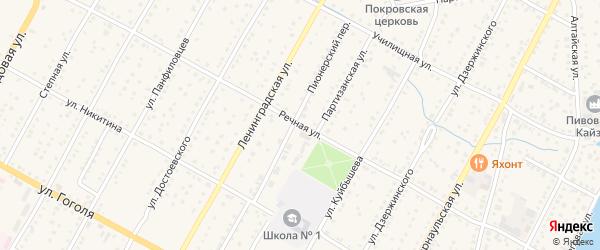 Речная улица на карте Камня-на-Оби с номерами домов