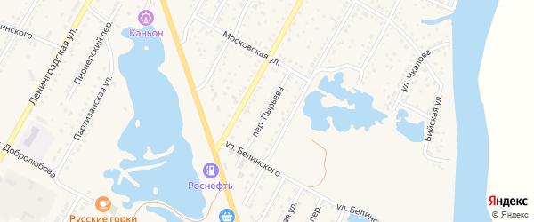 Переулок Пырьева на карте Камня-на-Оби с номерами домов