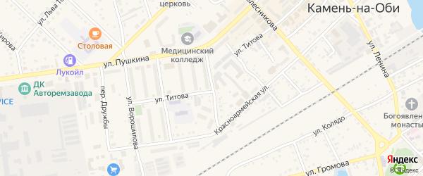 Украинская улица на карте Камня-на-Оби с номерами домов