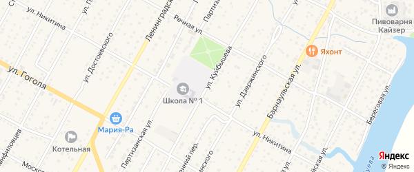 Улица Куйбышева на карте Камня-на-Оби с номерами домов