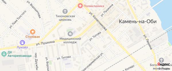 Нижегородская улица на карте Камня-на-Оби с номерами домов