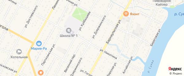 Улица Дзержинского на карте Камня-на-Оби с номерами домов