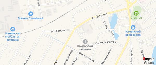 Улица Декабристов на карте Камня-на-Оби с номерами домов