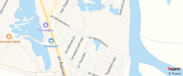 Улица Чкалова на карте Камня-на-Оби с номерами домов