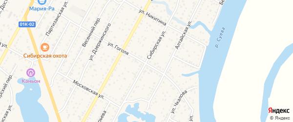 Сибирская улица на карте Камня-на-Оби с номерами домов