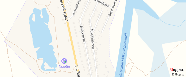 Трудовой переулок на карте Камня-на-Оби с номерами домов