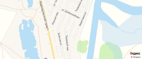 Переулок Энтузиастов на карте Камня-на-Оби с номерами домов