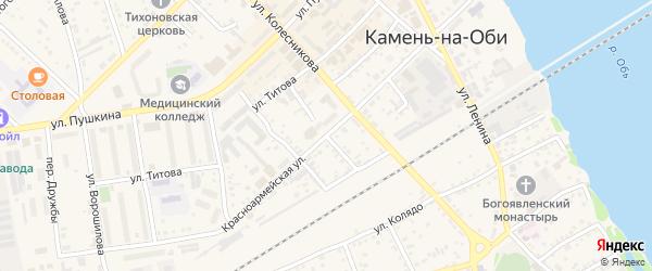 Улица 8 Марта на карте Камня-на-Оби с номерами домов