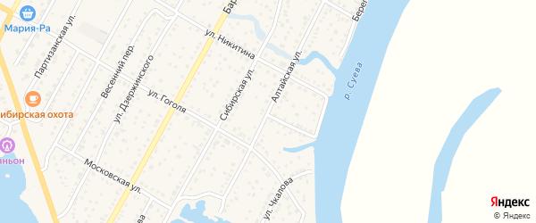 Алтайская улица на карте Камня-на-Оби с номерами домов