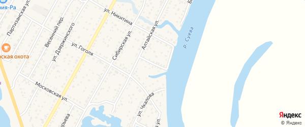 Мысовский переулок на карте Камня-на-Оби с номерами домов