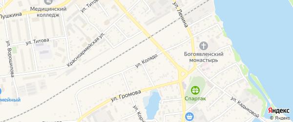 Улица Колядо на карте Камня-на-Оби с номерами домов