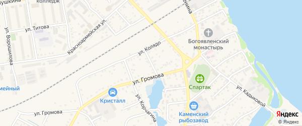 Улица Космонавтов на карте Камня-на-Оби с номерами домов