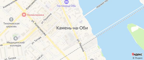 Улица Свеклобаза на карте Камня-на-Оби с номерами домов
