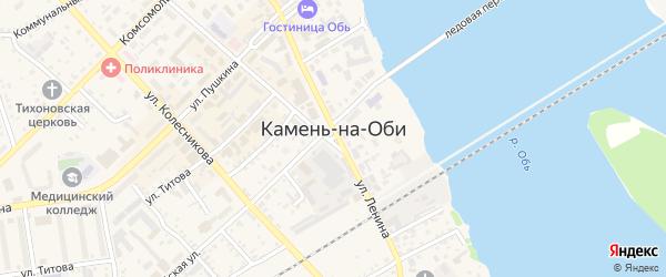 Минская улица на карте Камня-на-Оби с номерами домов