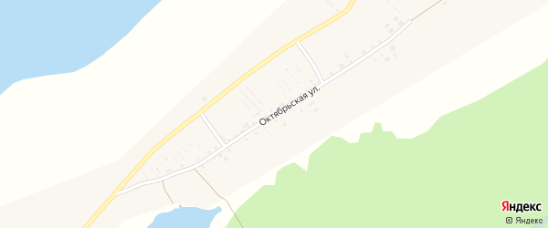 Октябрьская улица на карте села Гуселетово с номерами домов