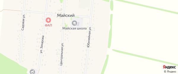 Юбилейная улица на карте Майского поселка с номерами домов
