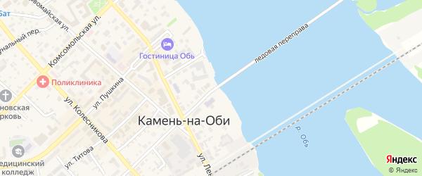 Набережная улица на карте Камня-на-Оби с номерами домов