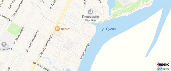 Переулок К.Баева на карте Камня-на-Оби с номерами домов