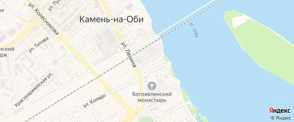 Советский переулок на карте Камня-на-Оби с номерами домов