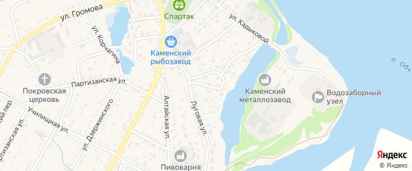 Заводской переулок на карте Камня-на-Оби с номерами домов