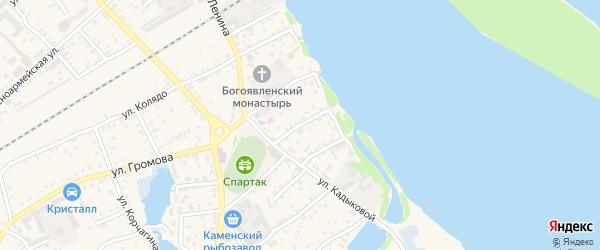 Переулок П.Морозова на карте Камня-на-Оби с номерами домов