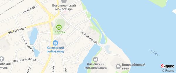 Улица Кадыковой на карте Камня-на-Оби с номерами домов