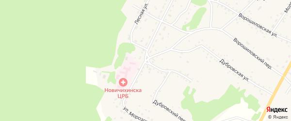 Улица Морозова на карте села Новичихи с номерами домов