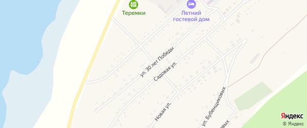 Улица 30 лет Победы на карте села Гуселетово с номерами домов